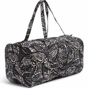 Vera Bradley XL Traveler Duffel Bag Paisley Noir